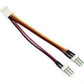 Cable Ladrón Alimentación MOLEX 3 Pin Hembra a 2 MOLEX 3 Pin Macho