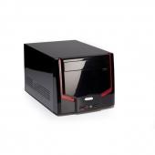 Caja PC Mini-ITX Itek nCube negra-roja