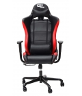 Silla Ergonómica Gaming 1337 Industries GC717 Negra - Roja